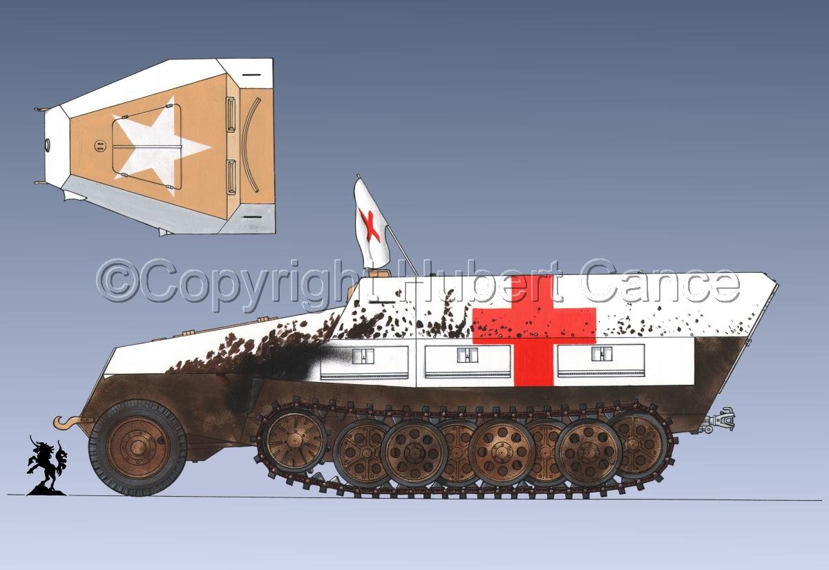SdKfz.251/8 Ausf.D Mittlerer Krankenpanzerwagen #3.1 (large view)