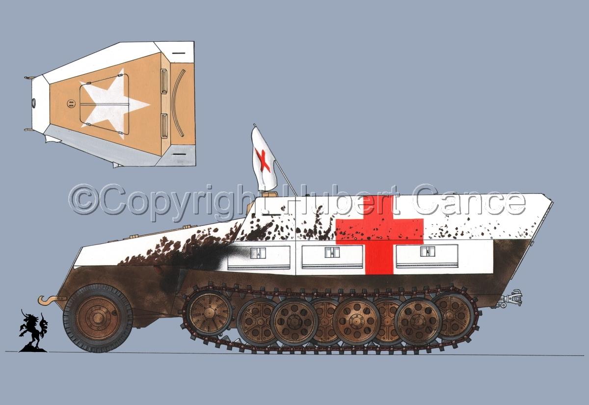 SdKfz.251/8 Ausf.D Mittlerer Krankenpanzerwagen #2.1 (large view)