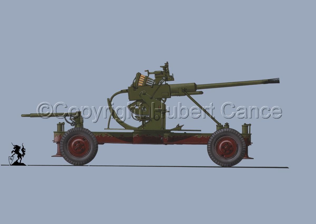 Soviet 37 mm AA Gun Model 1939 #1 (large view)