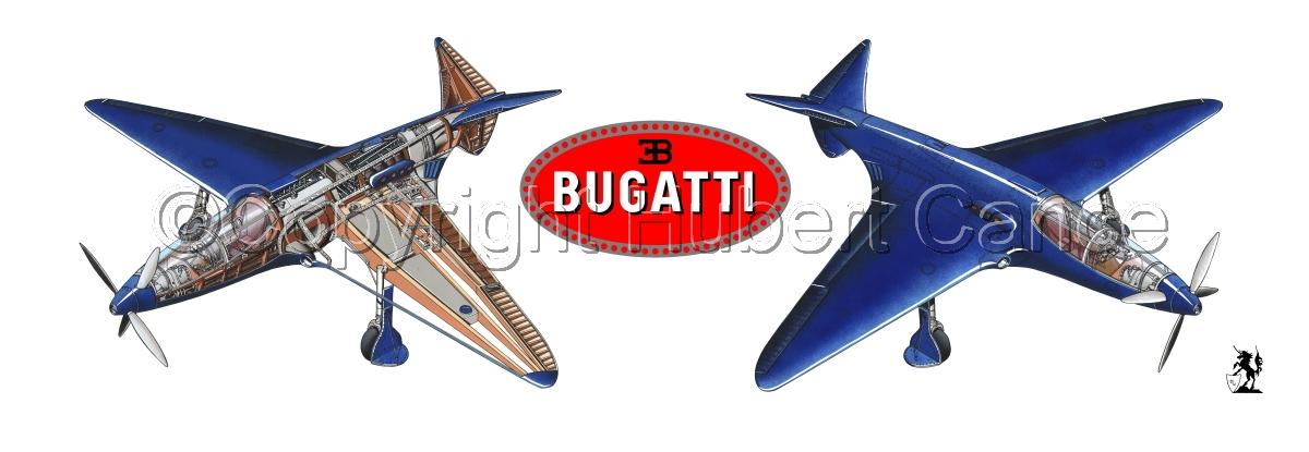 """""""Bugatti Racer"""" panoramic logo #1.1 (large view)"""