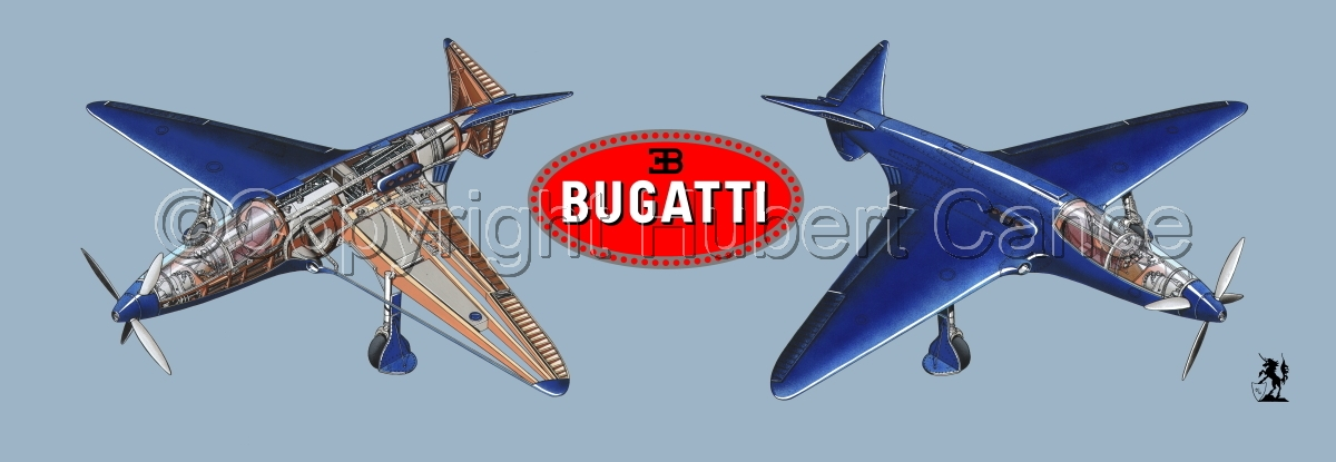 """Bugatti Racer"" panoramic logo #1.2 (large view)"