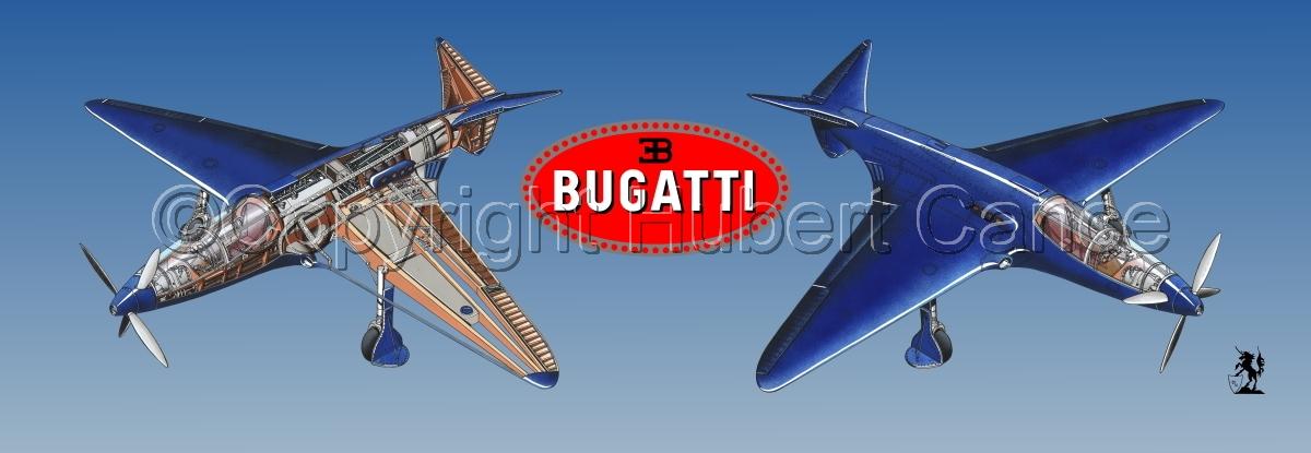 """""""Bugatti Racer"""" panoramic logo #1.3 (large view)"""