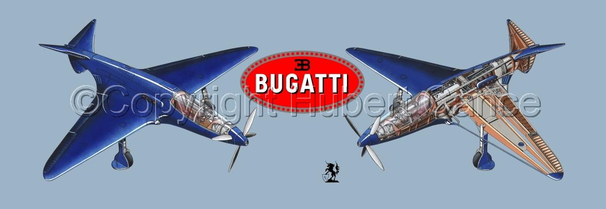 """""""Bugatti Racer"""" panoramic logo #2.2 (large view)"""
