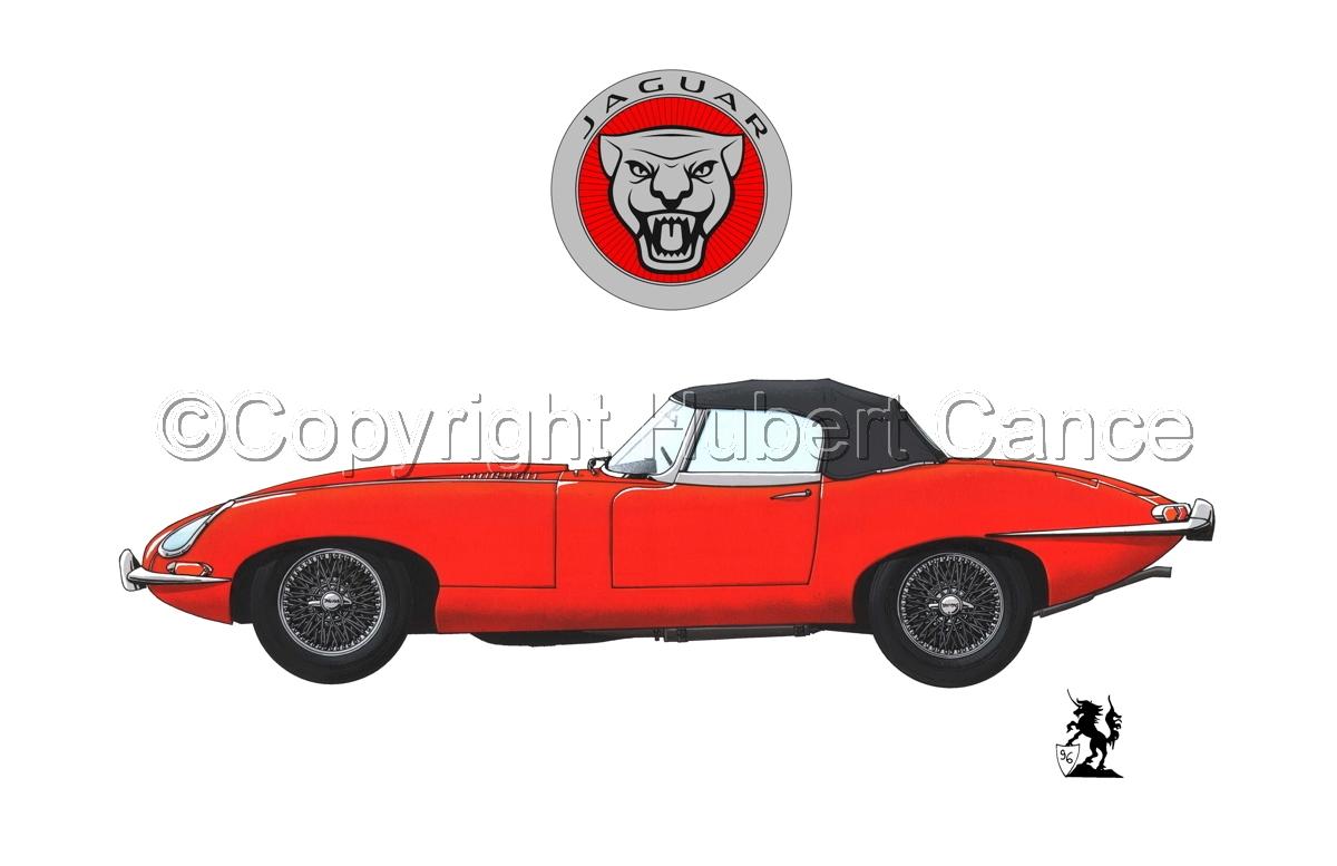 Jaguar Type E (Logo #1.1) (large view)