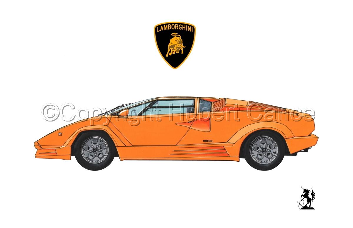 Painting Lamborghini Countach Logo 1 1 Original Art By Hubert