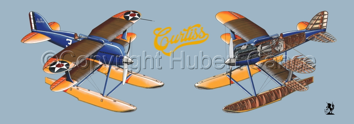 """""""Curtiss R3C2 Army Racer"""" Panoramic Logo #2.1 (large view)"""