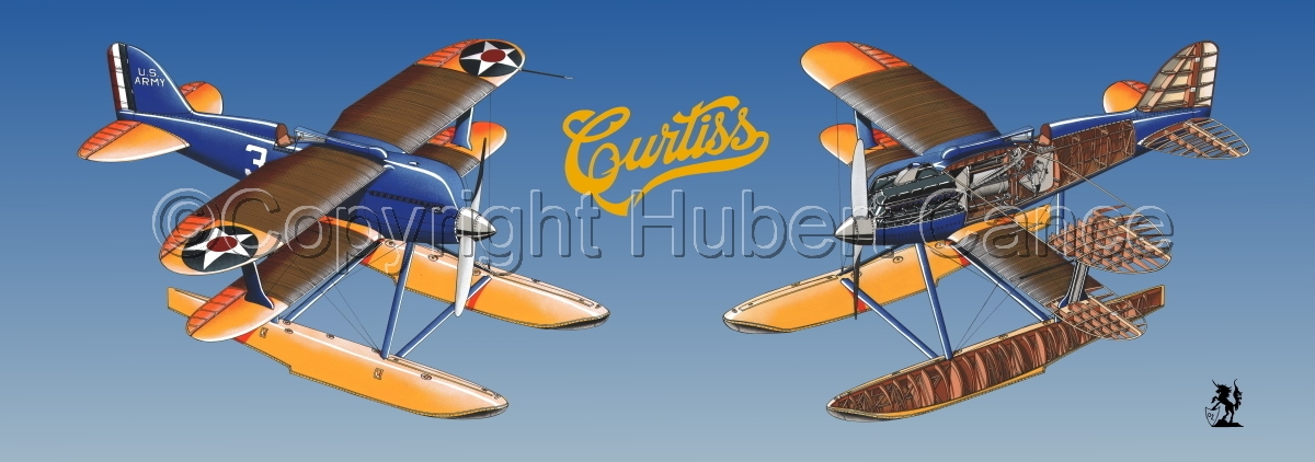 """""""Curtiss R3C2 Army Racer"""" Panoramic Logo #2.2 (large view)"""