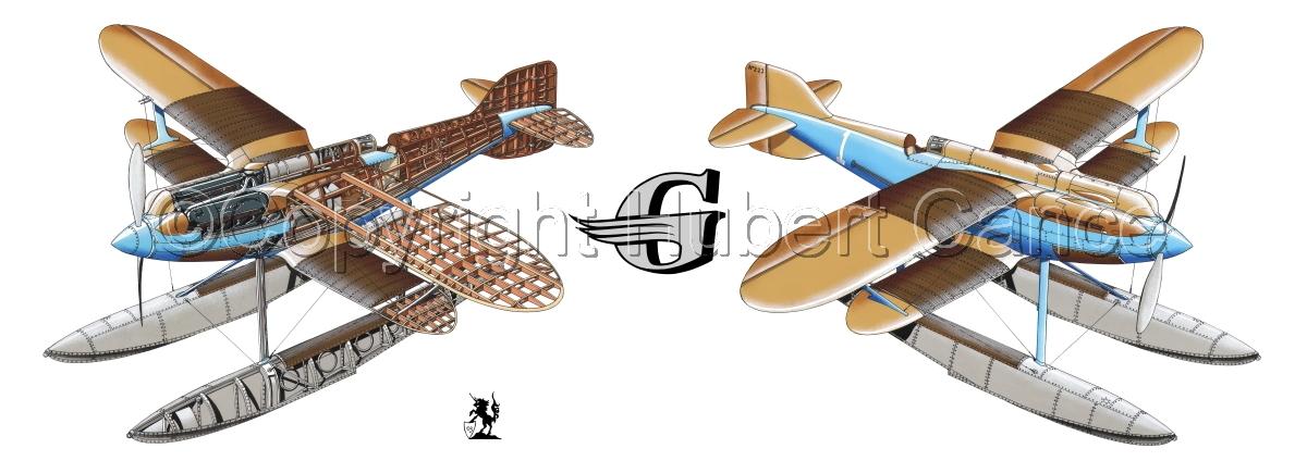 """Gloster IVb Racer"" Panoramic Logo #1 (large view)"