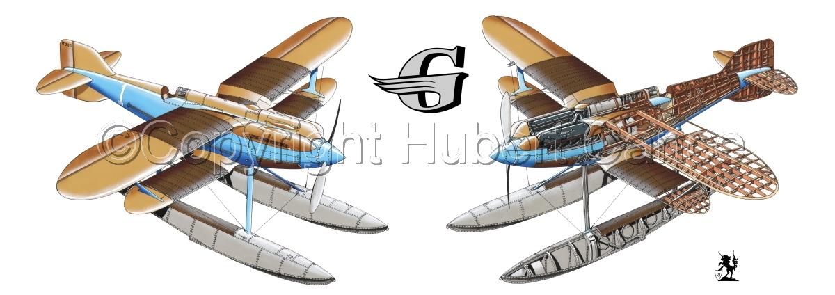 """Gloster IVb Racer"" Panoramic Logo #2.1 (large view)"