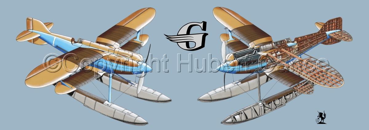 """Gloster IVb Racer"" Panoramic Logo #2.2 (large view)"