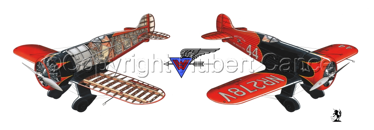 """""""Wedell Williams R44 Racer"""" Panoramic Logo #1.1 (large view)"""