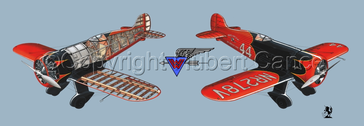 """Wedell Williams R44 Racer"" Panoramic Logo #1.2 (large view)"