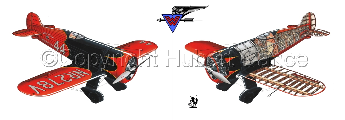 """""""Wedell Williams R44 Racer"""" Panoramic Logo #2.1 (large view)"""