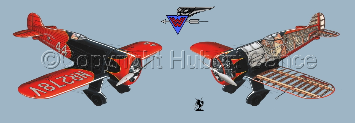 """""""Wedell Williams R44 Racer"""" Panoramic Logo #2.2 (large view)"""