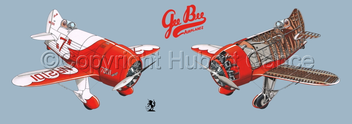 """""""Granville """"Gee Bee"""" R2  """"Senior Sportster"""" 1932 """" Panoramic Logo #1.2 (large view)"""