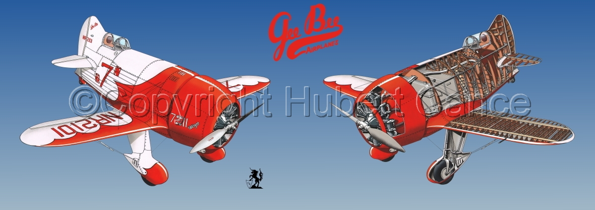 """Granville ""Gee Bee"" R2  ""Senior Sportster"" 1932 "" Panoramic Logo #1.3 (large view)"