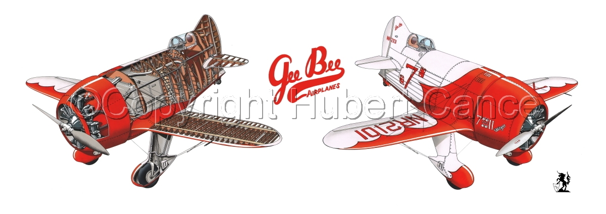 """Granville """"Gee Bee""""  R2 """"Senior Sportster"""" 1932"""" Panoramic Logo #2.1 (large view)"""