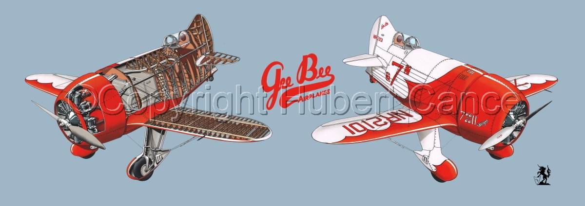 """""""Granville """"Gee Bee"""" R2 """"Senior Sportster"""" 1932 """" Panoramic Logo #2.2 (large view)"""
