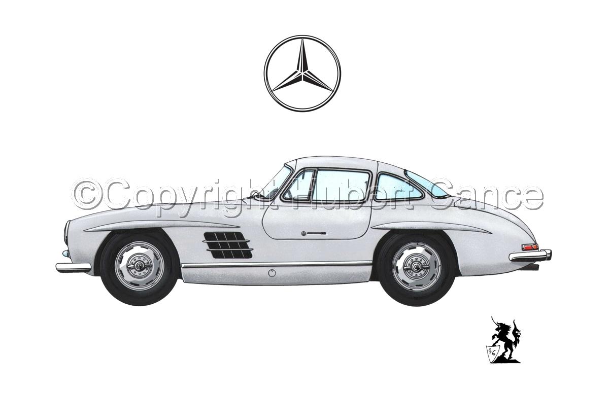 Mercedes 300SL (Logo #2.1) (large view)