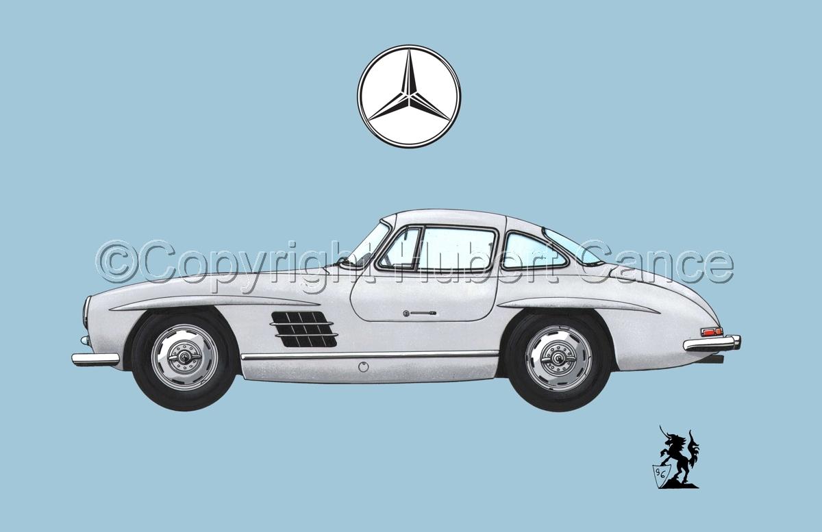Mercedes 300SL (Logo #2.2)  (large view)