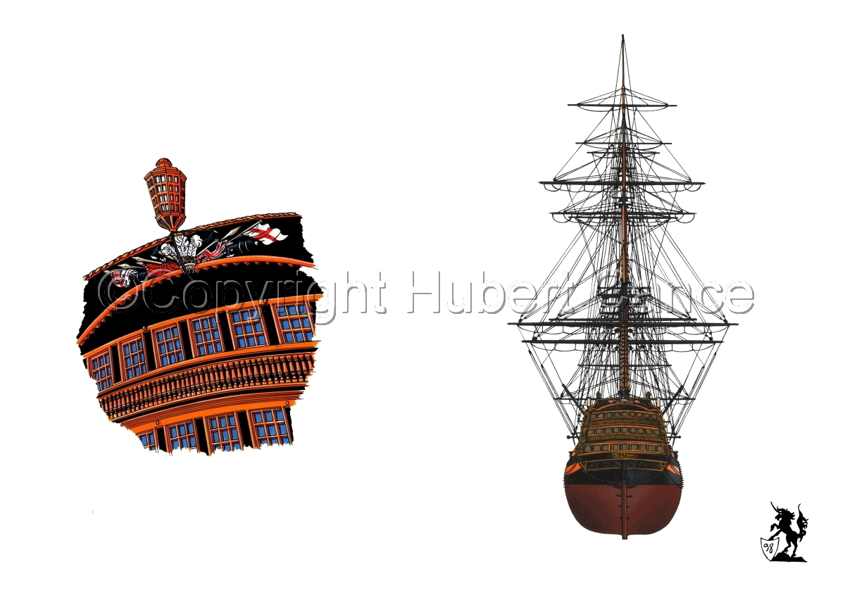 """""""HMS Victory"""" Sterns (large view)"""
