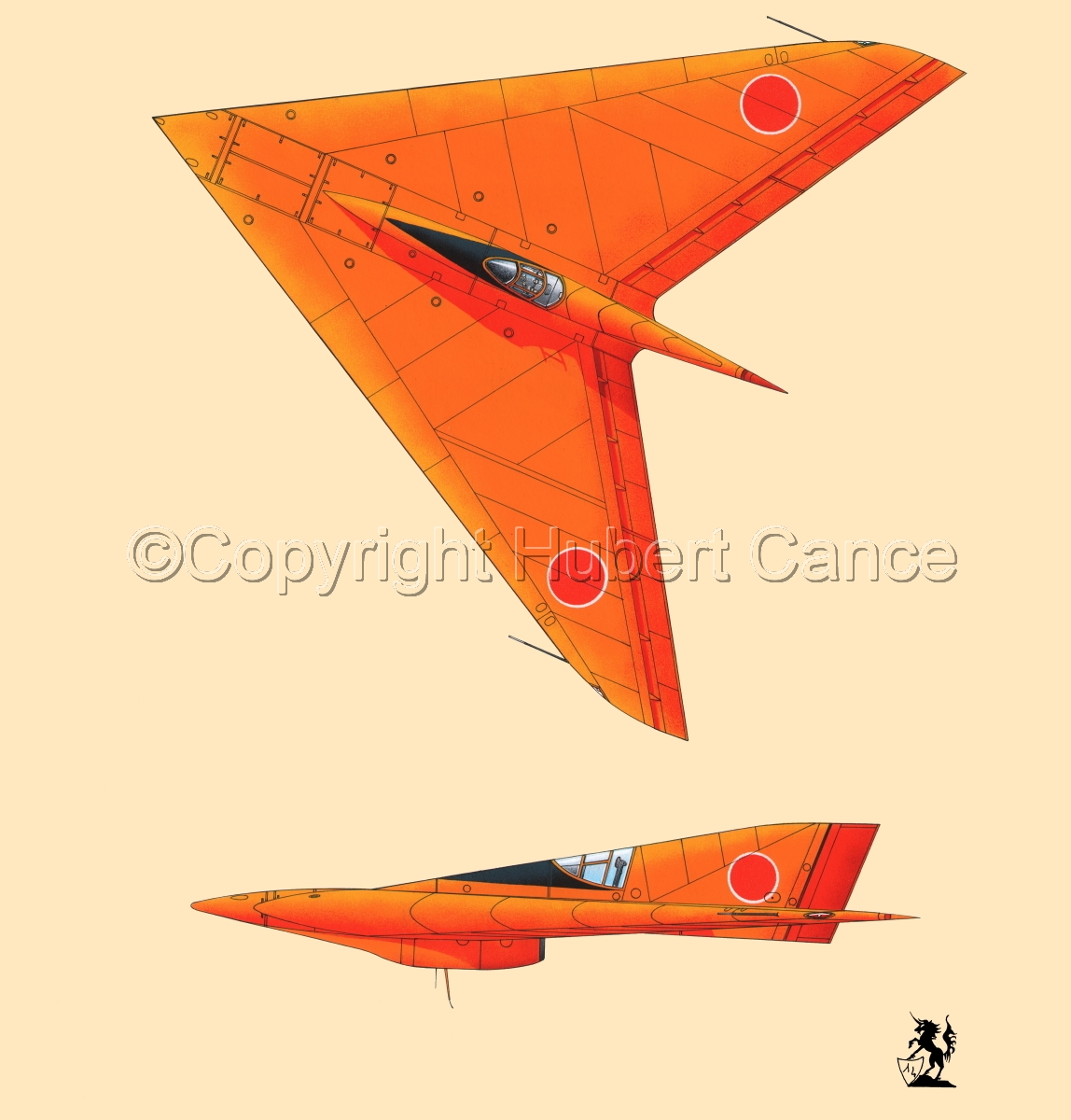 Horten Ho XIIIb Japanese Trainer 2-Views (#1.2) (large view)
