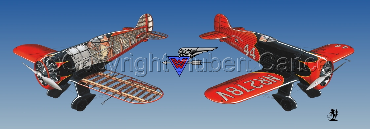 """""""Wedell Williams R44 Racer"""" Panoramic Logo #1.3 (large view)"""
