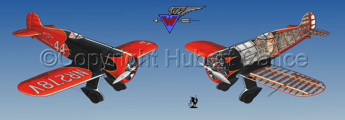 """Wedell Williams R44 Racer"" Panoramic Logo #2.2 (large view)"