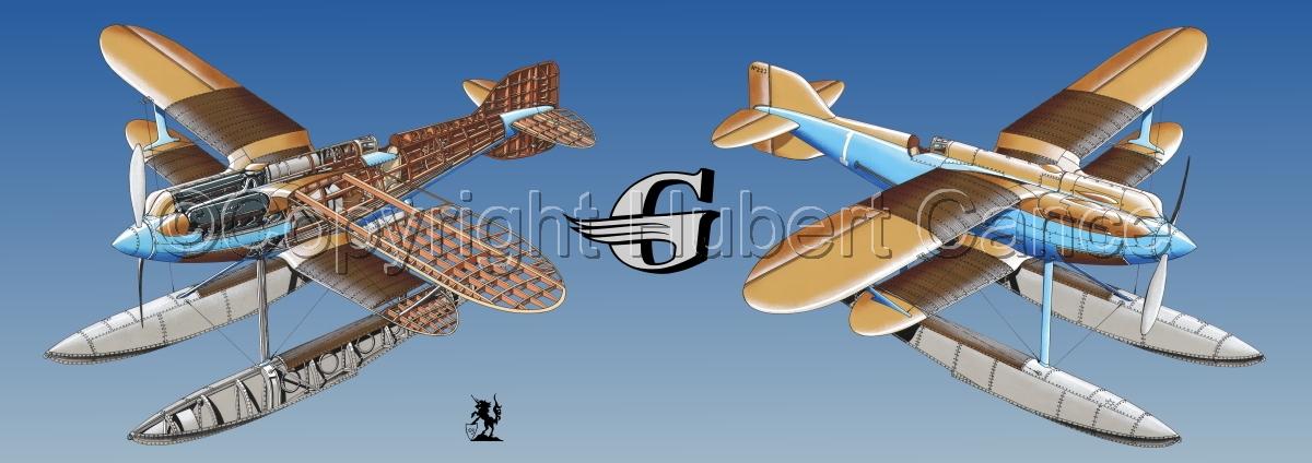"""Gloster IVb Racer"" Panoramic Logo #1.3 (large view)"