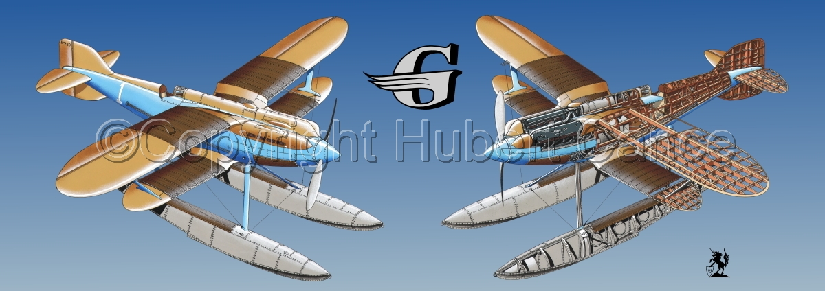 """Gloster IVb Racer"" Panoramic Logo #2.3 (large view)"
