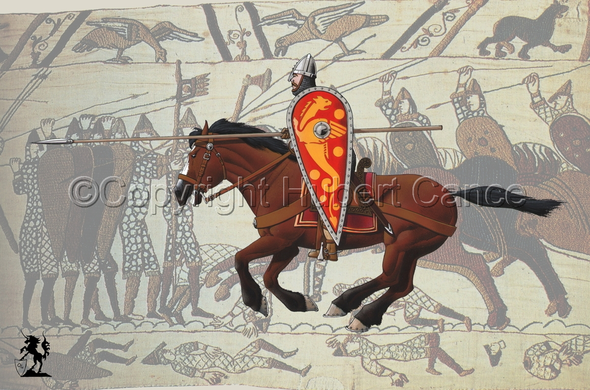 Normand Knight, Hastings (1066), (Charging) Tapestry (large view)