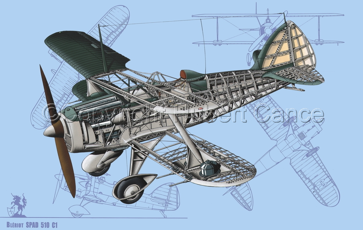 Blériot-SPAD 510 (Blueprint #1) (large view)