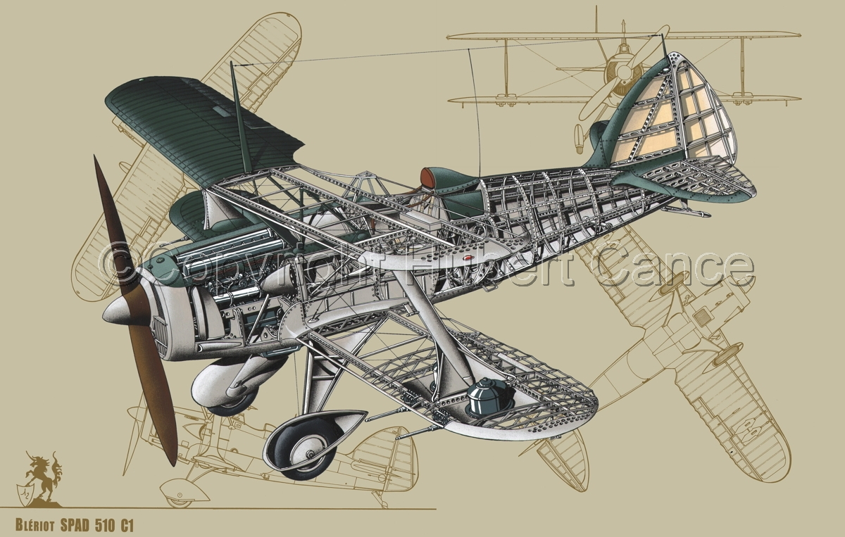 Blériot-SPAD 510 (Blueprint #3) (large view)