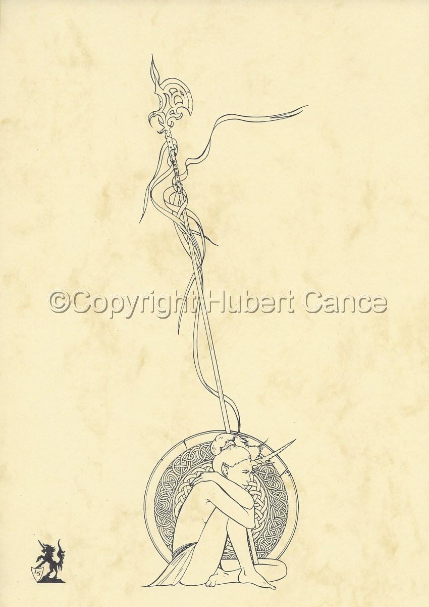Unicorn Lady (Ink) (large view)