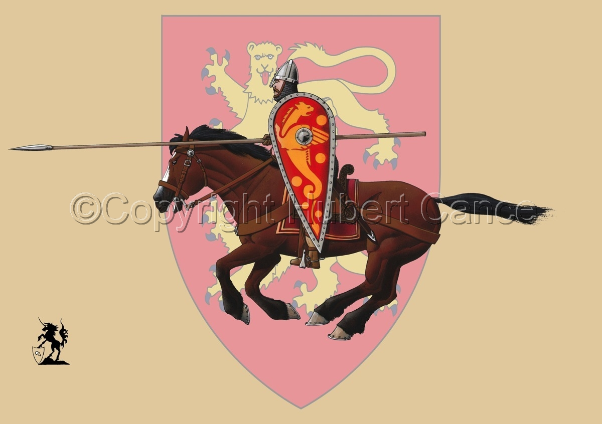 Normand Knight, Charging, Hastings (1066) (Shield) (large view)