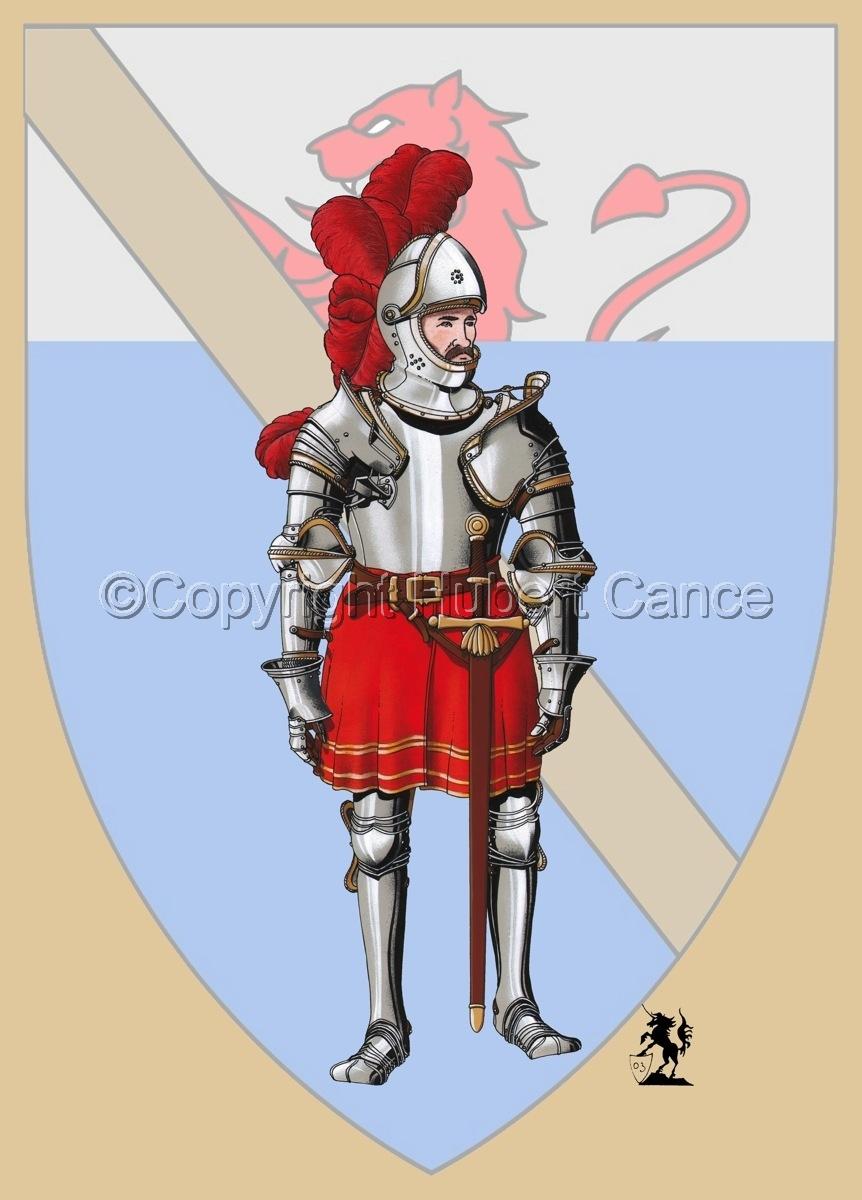 Pierre III Terrail, Knight of Bayard (1524) (Shield) (large view)