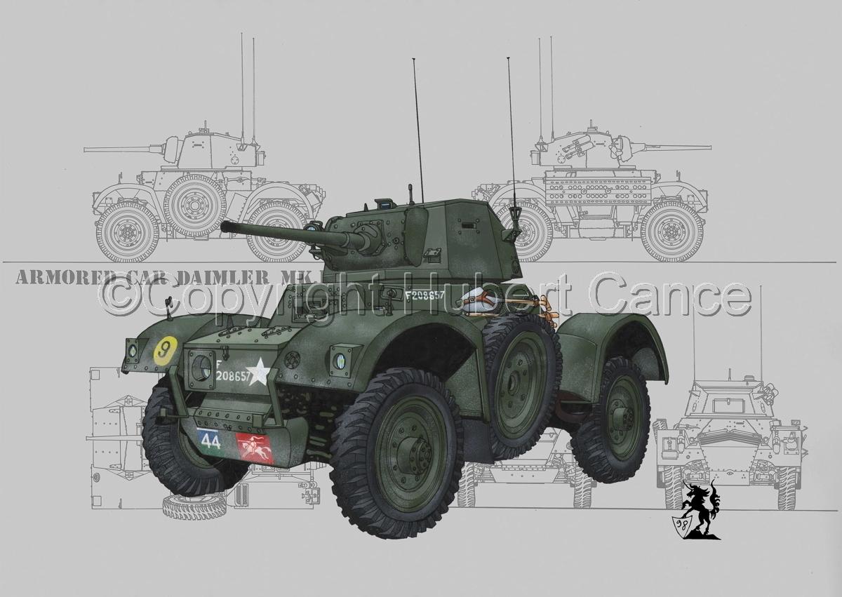 Daimler Mk.I Armoured Car (Blueprint #2) (large view)