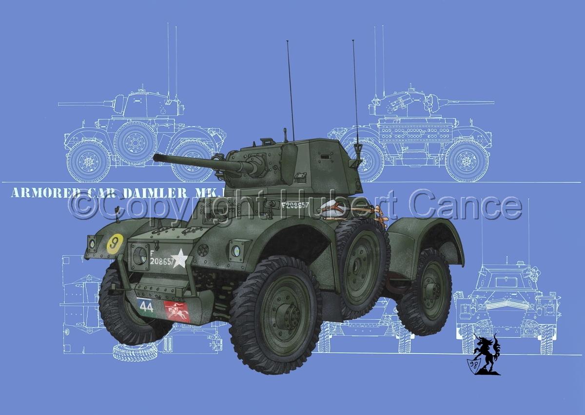 Daimler Mk.I Armoured Car (Blueprints #3) (large view)