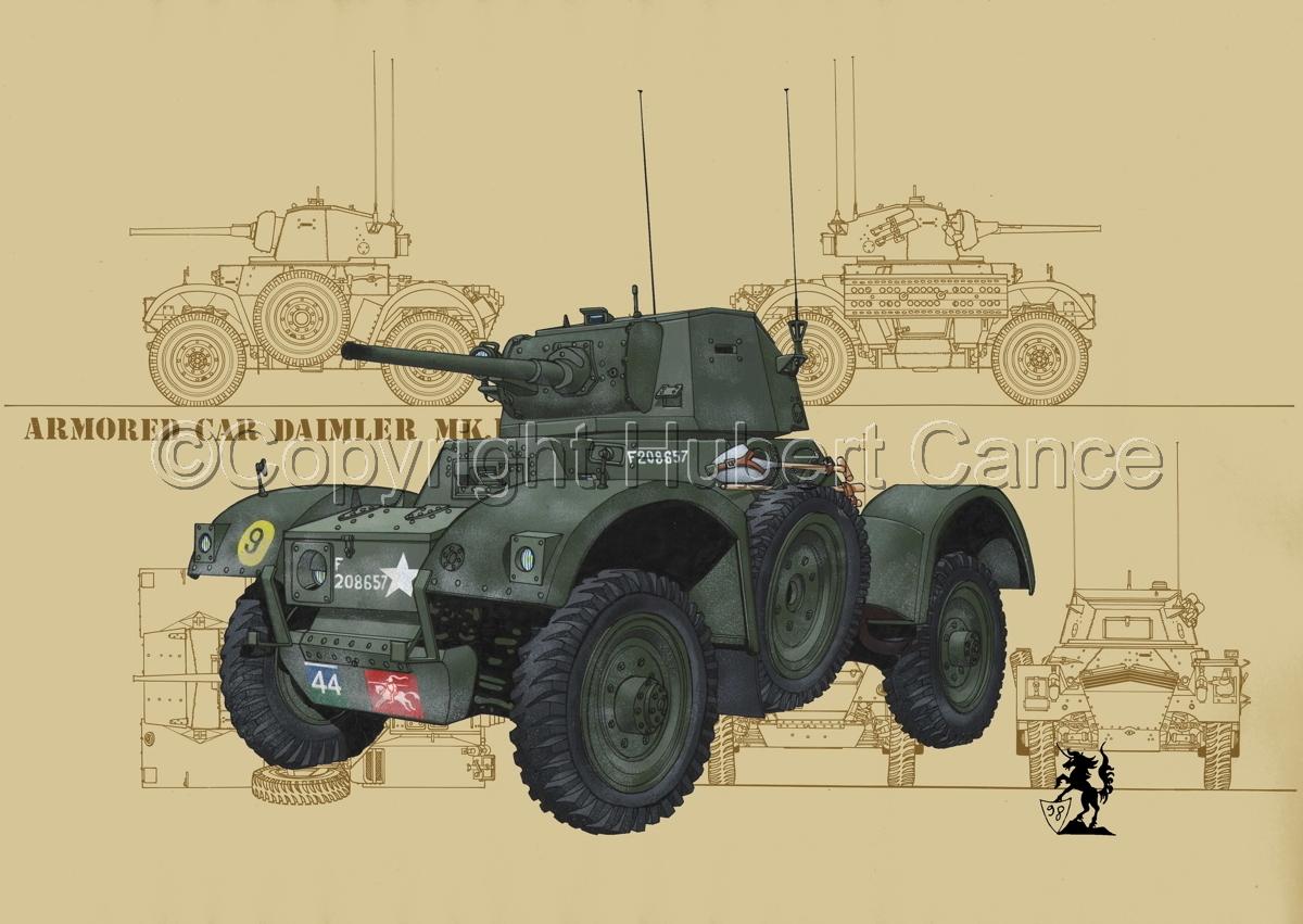 Daimler Mk.I Armoured Car (Blueprint #5) (large view)