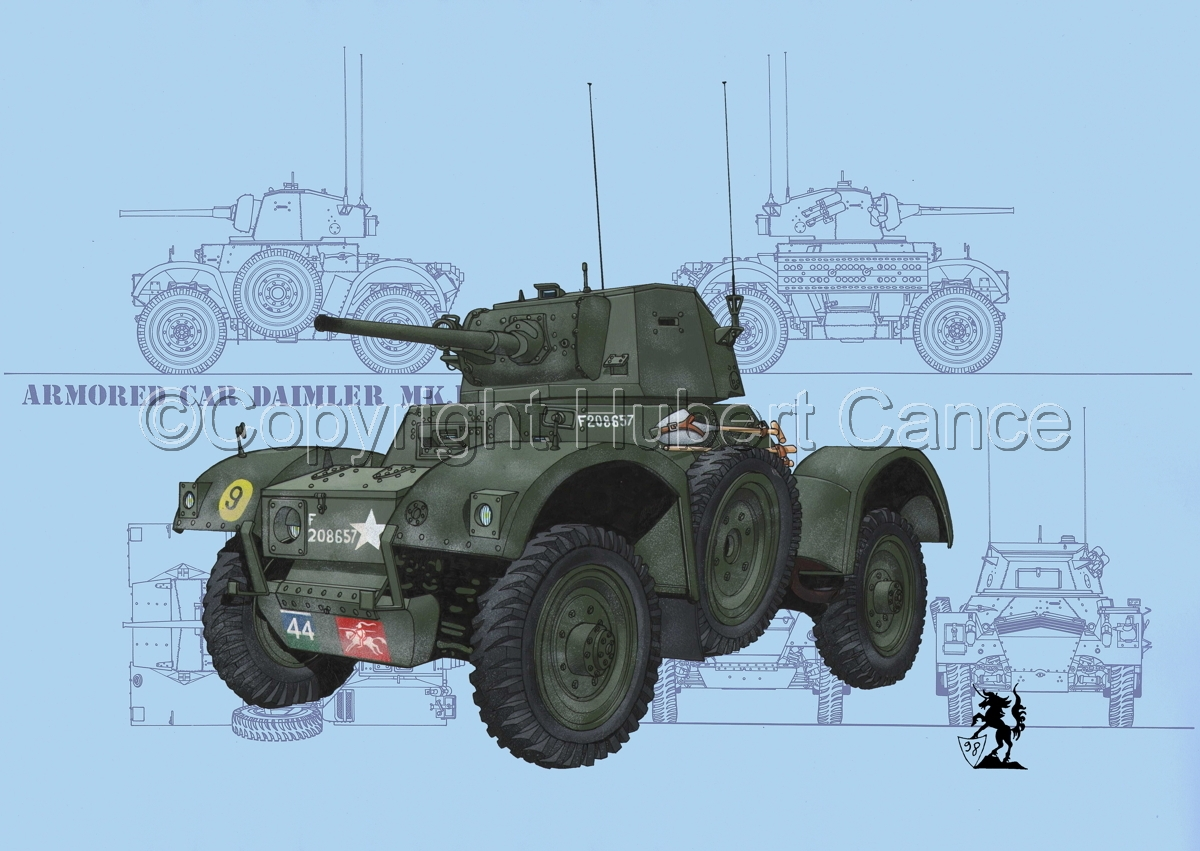 Daimler Mk.I Armoured Car (Blueprint #1) (large view)