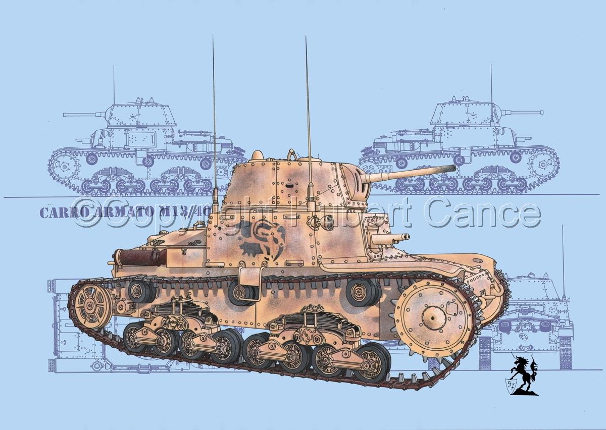 M13/40 medium Tank (Blueprint #1) (large view)