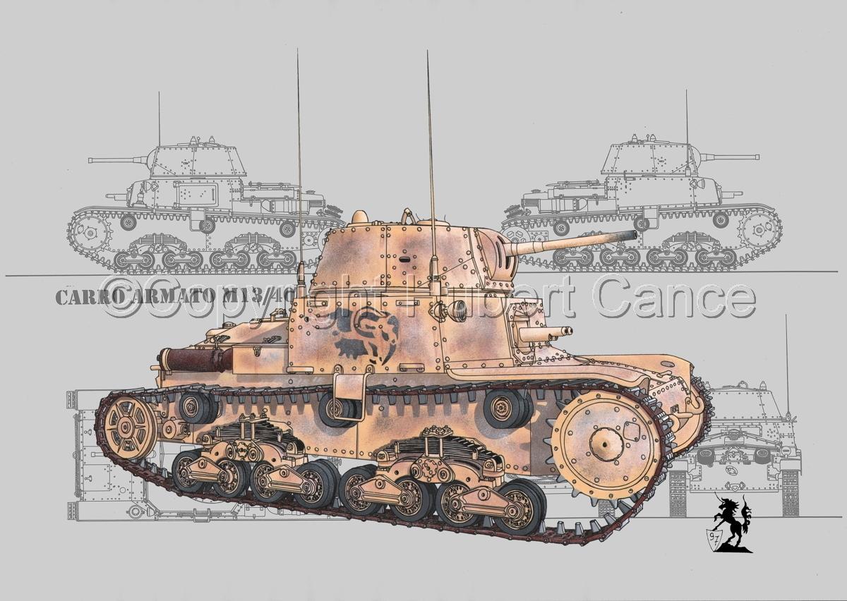 M13/40 medium Tank (Blueprint #2) (large view)
