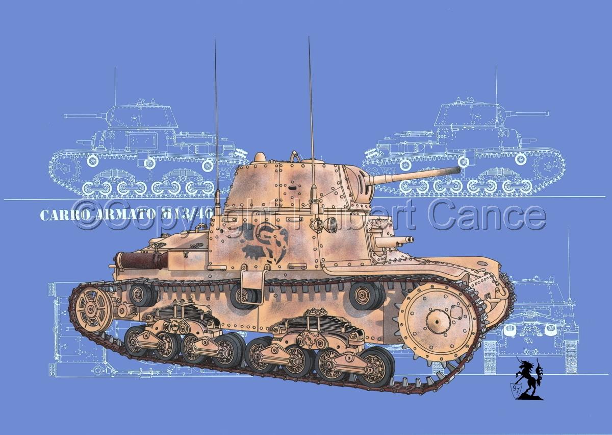 M13/40 medium Tank (Blueprint #3) (large view)