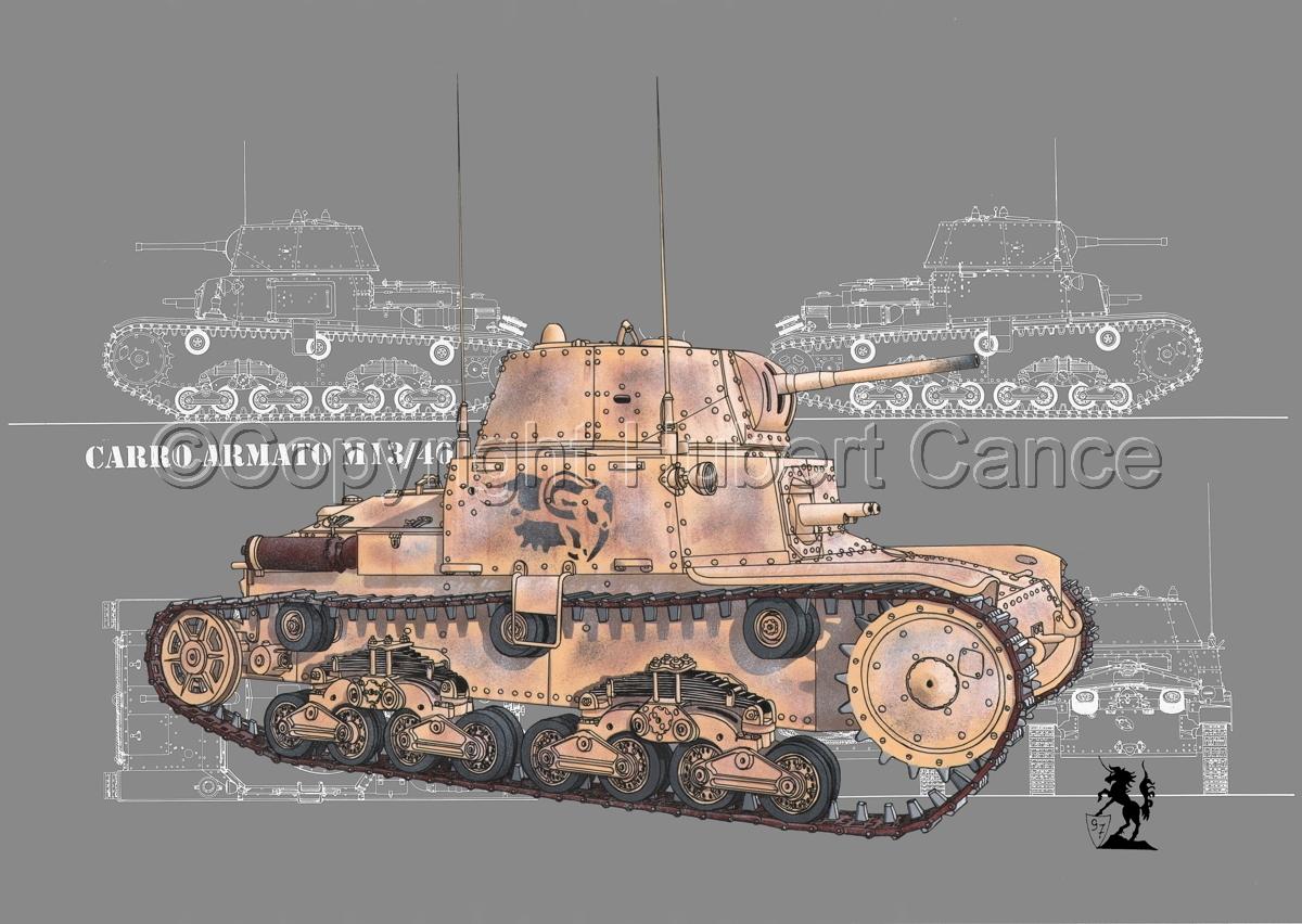 M13/40 medium Tank (Blueprint #4) (large view)