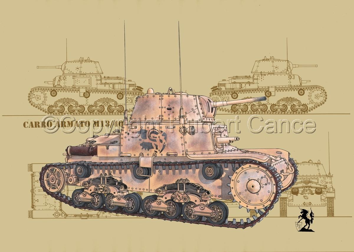 M13/40 medium Tank (Blueprint #5) (large view)