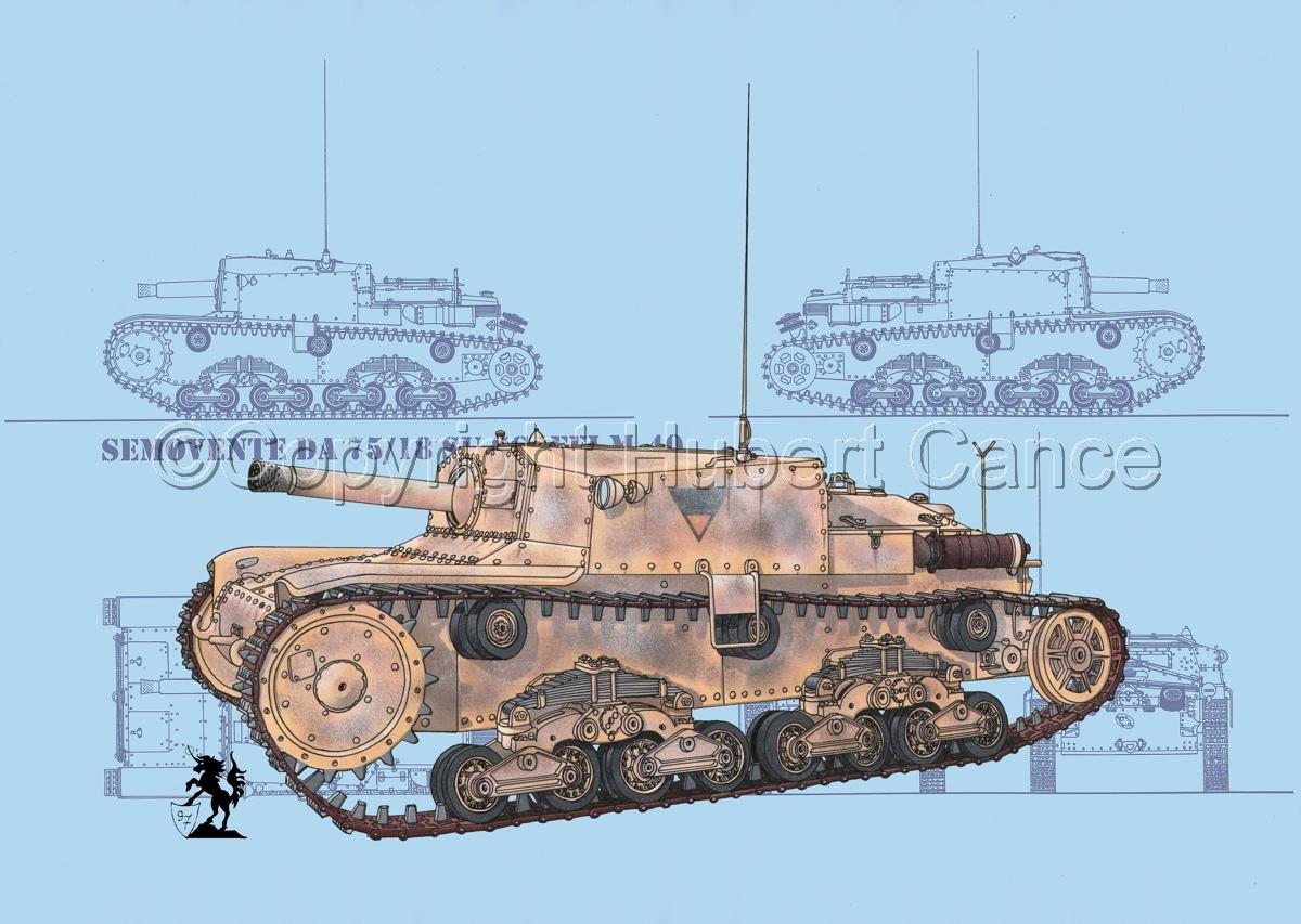 Semovente da 75/18 M13/40 (Blueprint #1) (large view)