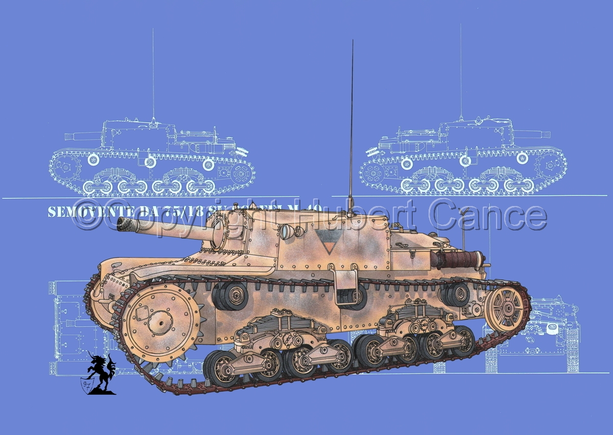 Semovente da 75/18 M13/40 (Blueprint #3) (large view)
