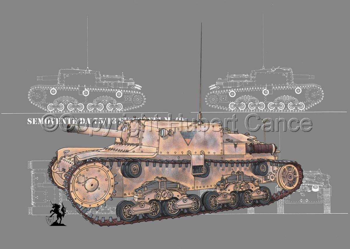 Semovente da 75/18 M13/40 (Blueprint #4) (large view)
