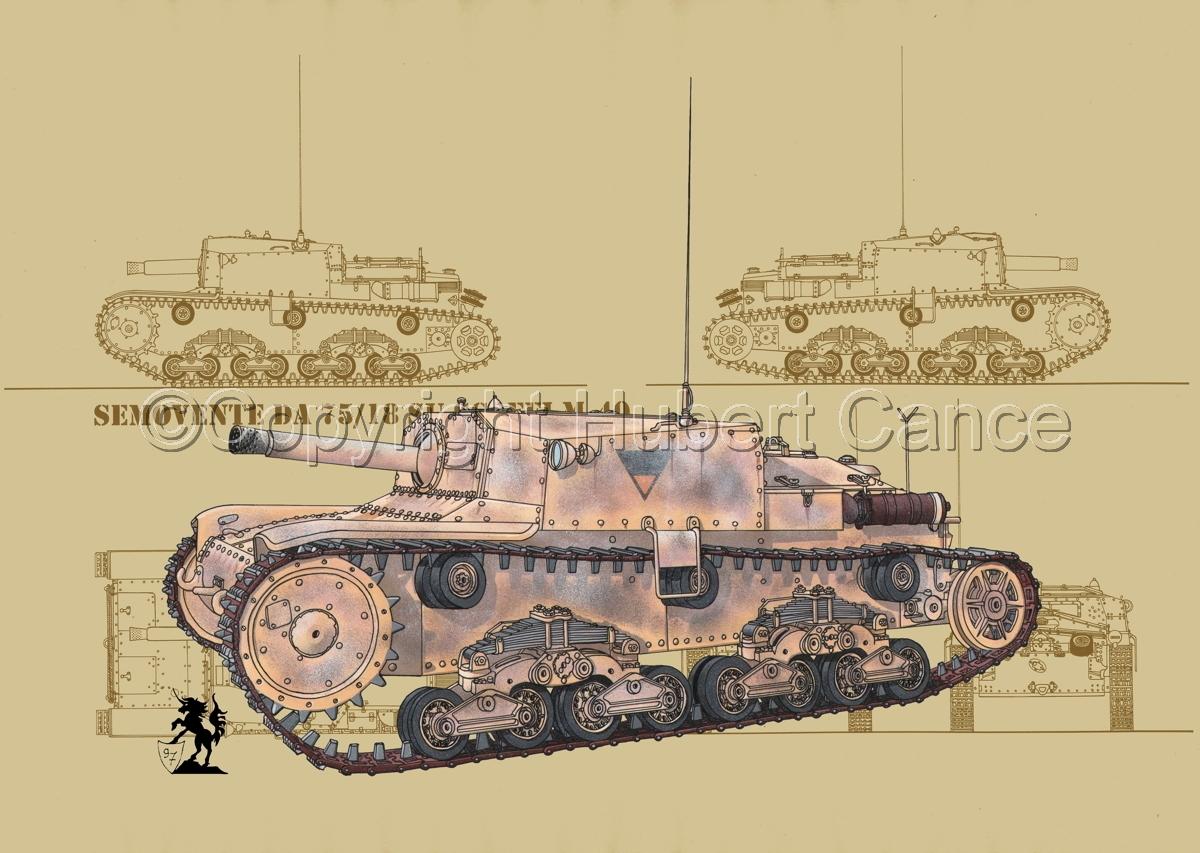 Semovente da 75/18 M13/40 (Blueprint #5) (large view)