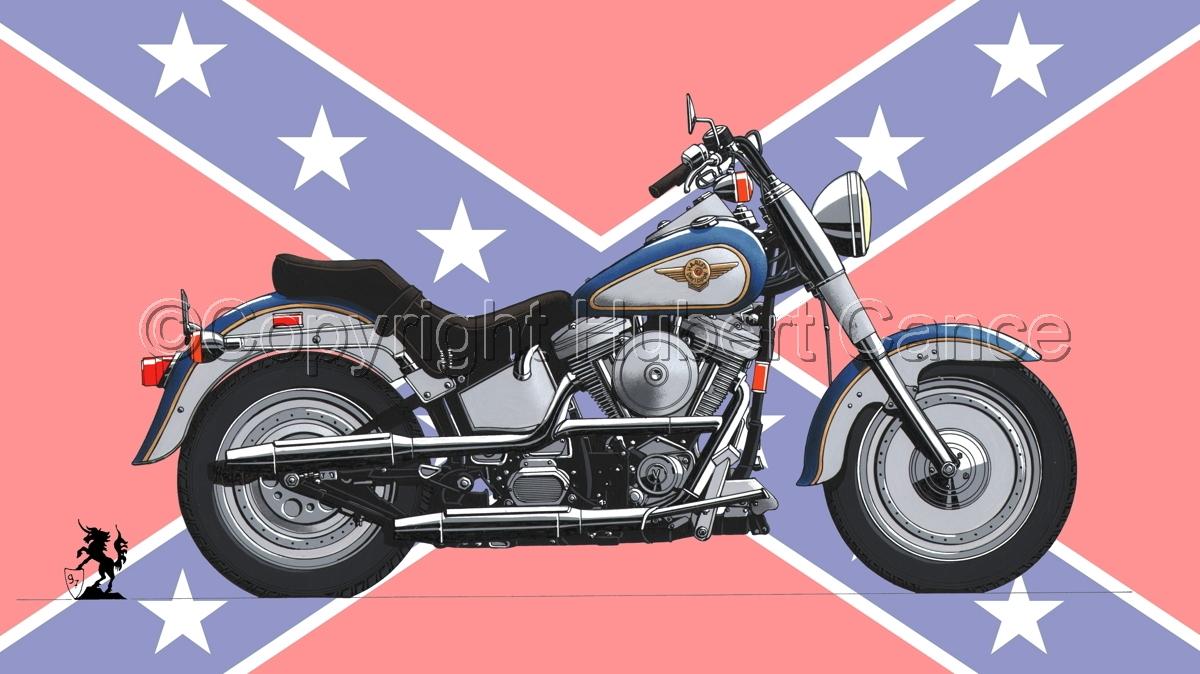 "Harley Davidson ""Fat Boy"" (Flag #2) (large view)"